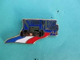 Pins Arthus Bertrand , F1 , Grand Prix De France 94 , Nevers-Magny-Cours ( Bleu Foncé ) - Arthus Bertrand