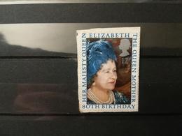 FRANCOBOLLI STAMPS GRAN BRETAGNA GREAT BRITAIN 1980 USED SU FRAMMENTO ANNIVERSARY QUEEN OBLITERE'  FRAGMENT - 1952-.... (Elisabetta II)