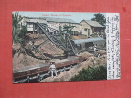 Overprint Canal Zone Tamp-- Steam Shovel At Culebra      Ref 3771 - Panama