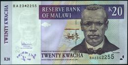 MALAWI - 20 Kwacha 31.10.2007 UNC P.52 C - Malawi
