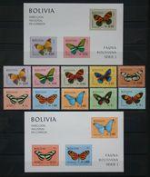 Butterflies Papillons Schmetterlinge Bolivia / ** MNH - Papillons