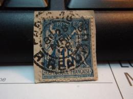 Timbre Sage 15 C Oblitéré. PARIS 13 REAUMUR 1896 - 1876-1898 Sage (Type II)