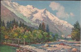 74 CHAMONIX MONT BLANC  ARVE GLACIER DES BOSSONS  CARTE D ARTISTE ILLUSTRATEUR COLORISEE  EDITEUR CELA 1 / 1 - Chamonix-Mont-Blanc