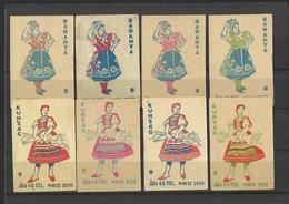 HUNGARY - Lot Of 8 Matchbox LABELS (see Sales Conditions) S/0102 - Cajas De Cerillas - Etiquetas