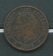 France Napoleon III Deux Centimes 1862 K  Laupi 12201 - B. 2 Centimes