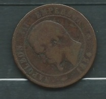 FRANCE-10 CENTIMES NAPOLEON III-1854  B  LAUPI 12206 - D. 10 Centimes
