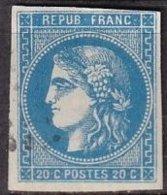 FRANCE - 20 C. Type III Report 2 Oblitéré - 1870 Bordeaux Printing