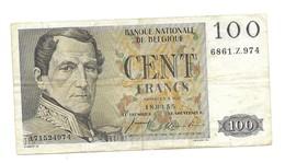 100 Fr - 18.03.55 - [ 2] 1831-... : Royaume De Belgique