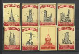 BELGIUM - Lot Of 8 Matchbox LABELS (see Sales Conditions) S/0103 - Cajas De Cerillas - Etiquetas
