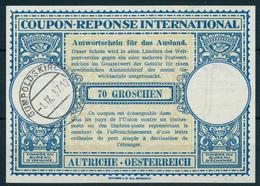 AUTRICHE  / GUMPOLDSKIRCHEN  -   -1.IX.37  ,  Lo11  -  70 GROSCHEN   -  Reply Coupon Reponse - Entiers Postaux