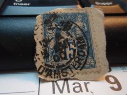 Timbre Sage 15 C Oblitéré. PARIS 18 ...d'Amsterdam 1900 - 1876-1898 Sage (Type II)