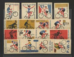 BIKE CYCLE - Lot Of 16 Matchbox LABELS (see Sales Conditions) S/0105 - Cajas De Cerillas - Etiquetas