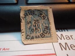 Timbre Sage 15 C Oblitéré. PARIS 35  CAMBON 1895 - 1876-1898 Sage (Type II)