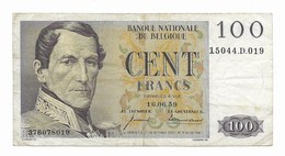 100 Fr - 16.06.59 - [ 2] 1831-... : Royaume De Belgique