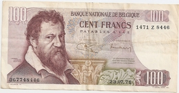 100 Fr - 23.07.71 - [ 2] 1831-... : Royaume De Belgique