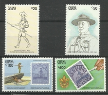 GHANA 1991 SCOUTS ,BADEN POWELL MNH - Ghana (1957-...)
