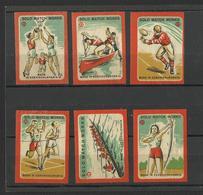 SPORT - Lot Of 6 Matchbox LABELS (see Sales Conditions) S/0108 - Cajas De Cerillas - Etiquetas