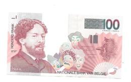 100 Fr - Type 'Ensor' - AUNC - [ 2] 1831-... : Royaume De Belgique