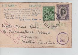 34PR/ Toga(Tonga)  Cover Tin Can Mail C.Niuafoou 1/8/1935 > Western Australia - Tonga (...-1970)