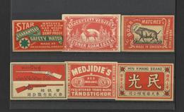 Lot Of 6 Matchbox LABELS (see Sales Conditions) S/0109 - Cajas De Cerillas - Etiquetas
