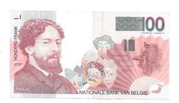 100 Fr - Type 'Ensor' - Prachtig - [ 2] 1831-... : Royaume De Belgique