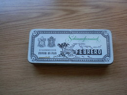 Pld Tin Box With Cigarettes Febrero - Boites à Tabac Vides