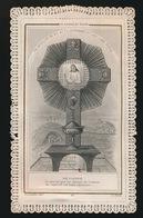 H.PRENTJE IMAGE PIEUSE -  CH.LETAILLE 10  - PREMIERE COMMUNION GENT NOUVEAU BOIS 1879 -   2 SCANS - Images Religieuses