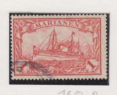 Marianen Michel-cat  16 Met Fantasiestempeld - Colony: Mariana Islands