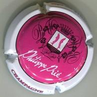 CAPSULE-CHAMPAGNE PRIE Philippe N°01 Rosé Foncé Contour Blanc Texte Blanc-NR - Champagne