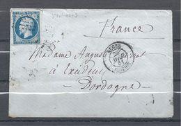 Napoléon III De Alger à Excideuil - Marcofilia (sobres)