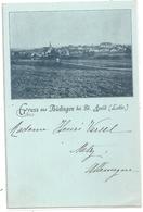 GRUSS Aus BÜDINGEN ( BUDING ) Bei ST. AVOLD . ( LOTHR. ) ( LORRAINE ) Verso Edt ALLEMANDE . 2 SCANES - Saint-Avold