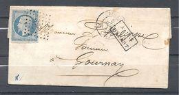 Napoléon III De Rouen à Gournay - Marcofilia (sobres)