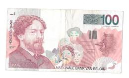 100 Fr - Type 'Ensor' - [ 2] 1831-... : Royaume De Belgique