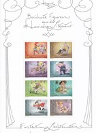 2012 Liechtenstein Mi: 1594 - 1601** Block Gezähnt, Berühmte Figuren Aus Der Klassischen Literatur - Blocchi & Fogli