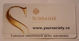 ROMANIA-CIGARETTES CARD,NOT GOOD SHAPE,0,90 X0.45 CM - Objetos Para Fumadores