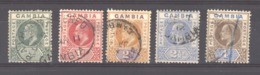 Gambie  :  Yv  40...45  (o)   Filigrane CA Multiple , 5 Valeurs - Gambia (...-1964)