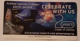 ROMANIA-CIGARETTES CARD,NOT GOOD SHAPE,0,74 X0.47 CM - Objetos Para Fumadores