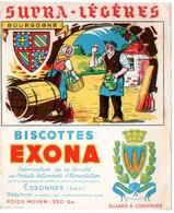 Buvard Biscottes Exona. La Bourgogne. - Biscottes