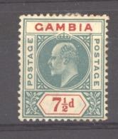 Gambie  :  Yv  48  *   Filigrane CA Multiple  , Signé - Gambia (...-1964)