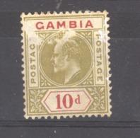 Gambie  :  Yv  49  *   Filigrane CA Multiple - Gambia (...-1964)