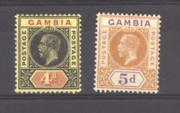 Gambie  :  Yv  72-73  * - Gambia (...-1964)