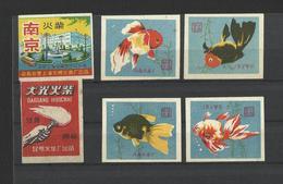 CHINA - Lot Of 6 Matchbox LABELS (see Sales Conditions) S/0121 - Cajas De Cerillas - Etiquetas