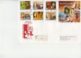 Central Africa Famous People Perforated And Imperforated Sets And SSs And 6 Deluxe SSs On 4 Used R Covers, Very Rare! - Famous People