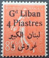 R1934/252 - 1924 - COLONIES FR. - GRAND LIBAN - TYPE SEMEUSE LIGNEE - N°35 NEUF** - Gross-Libanon (1924-1945)