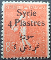 R1934/253 - 1924 - COLONIES FR. - SYRIE - TYPE SEMEUSE LIGNEE - N°139 NEUF* - Syrien (1919-1945)