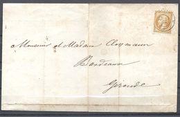 Napoléon III De Paris à Bordeaux - Marcophilie (Lettres)