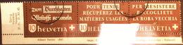 Schweiz Suisse 1942: Altstoff-Zusammendruck Se-tenant Zu Z35a Mi WZd.8 Mit O ZÜRICH 18.VIII.42 WIPKINGEN (Zu CHF 150.00) - Se-Tenant