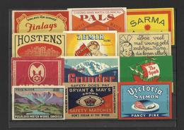 Lot Of 12 Matchbox LABELS (see Sales Conditions) S/0123 - Cajas De Cerillas - Etiquetas