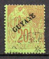 Col17  Colonie Guyane N° 22 Sans Point Oblitéré   Cote 75,00€ - Gebraucht