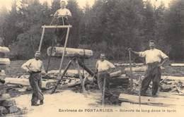 Environs De Pontarlier - Scieurs De Long Dans La Forêt - Cecodi N'862 - Frankreich